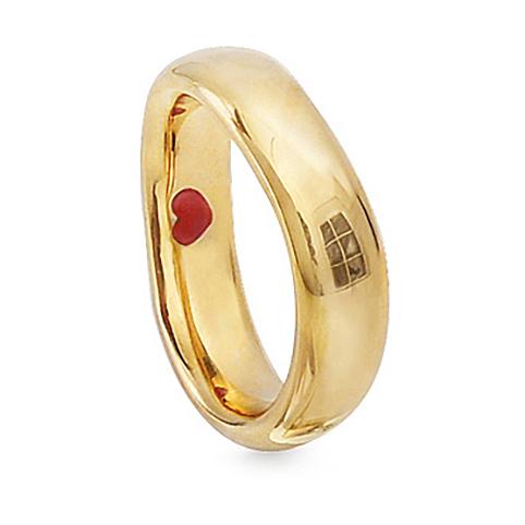 Mestergull Love Ring nr. 6 i 18 K Gult gull til Herre 6-6,5mm blank overflate LYNGGAARD Love Ring