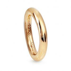 Mestergull Celebration Ring i 18 K Gult gull blank overflate LYNGGAARD Celebration Ring