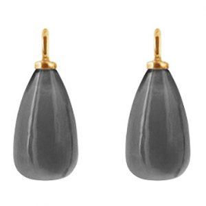 Mestergull Vedheng til ørepynt i 18 K Gult gull med grå månesten LYNGGAARD Ørepynt