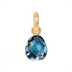 Mestergull Charm Sweet Drops i 18 K Gult gull med fasettert London blå topaz LYNGGAARD Sweet Drops Charm
