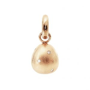 Mestergull Charm Sweet Drops i 18 K Gult gull med10 diamanter totalt 0,12 ct. TwVs matt overflate LYNGGAARD Sweet Drops Charm