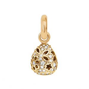 Mestergull Charm Sweet Drops Lace i 18 K Gult gull med58 diamanter totalt 0,58 ct. TwVs LYNGGAARD Sweet Drops Charm