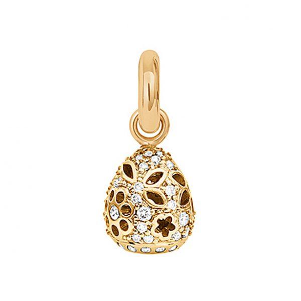 Mestergull Charm Sweet Drops Lace i 18 K Gult gull med58 diamanter totalt 0,58 ct. TwVs LYNGGAARD Sweet Drops Charm