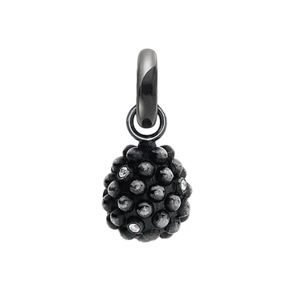 Mestergull Charm Sweet Drops brombær i oksidert sølvmed7 diamanter totalt 0,07 ct. TwVs LYNGGAARD Sweet Drops Charm