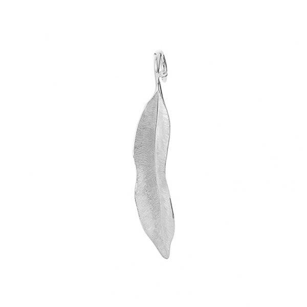 Mestergull Leaves anheng lite i 18 K Hvitt gull 4,5 cm LYNGGAARD Leaves Anheng