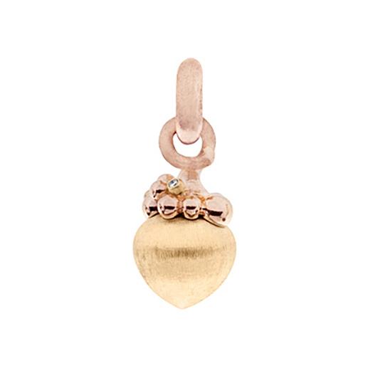 Mestergull Charm stor Sweet Drops i 18 K Gult og rosé gull med 3 diamanter totalt 0,03 ct. TwVs LYNGGAARD Sweet Drops Charm