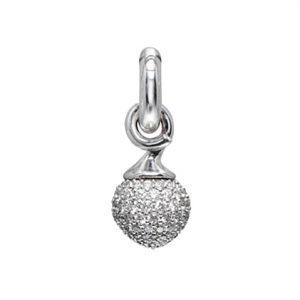 Mestergull Charm liten Sweet Drops i 18 K Hvitt gull pavé med 115 diamanter totalt 0,68 ct. TwVs LYNGGAARD Sweet Drops Charm