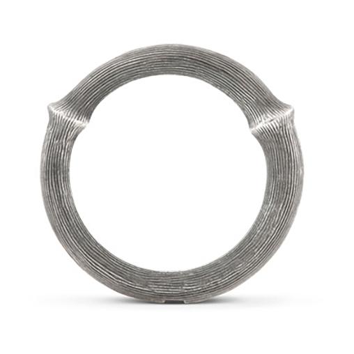 Mestergull Nature ring nr. 4 i oksidert sølv LYNGGAARD Nature Ring