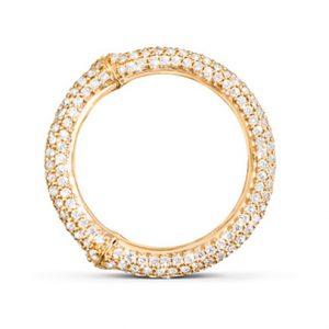 Mestergull Nature Ring i 18 K Gult gull pavé med 49 - 62 diamanter totalt 1,01 - 1,57 ct. TwVs LYNGGAARD Nature Ring