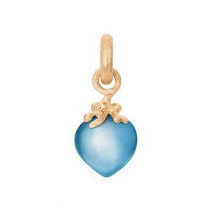 Mestergull Charm filigran Sweet Drops i 18 K Gult gull med swiss blå topas LYNGGAARD Sweet Drops Charm