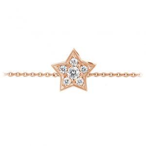Mestergull Collier Stars i 18 K Rosé gull med 6 diamanter totalt 0,18 ct. TwVs 40-45 cm LYNGGAARD Shooting Stars Kjede