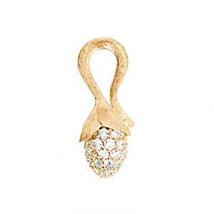 Mestergull Anheng spire mini Lotus i 18 K Gult gull pavé med 56 diamanter totalt 0,48 ct. TwVs LYNGGAARD Lotus Anheng