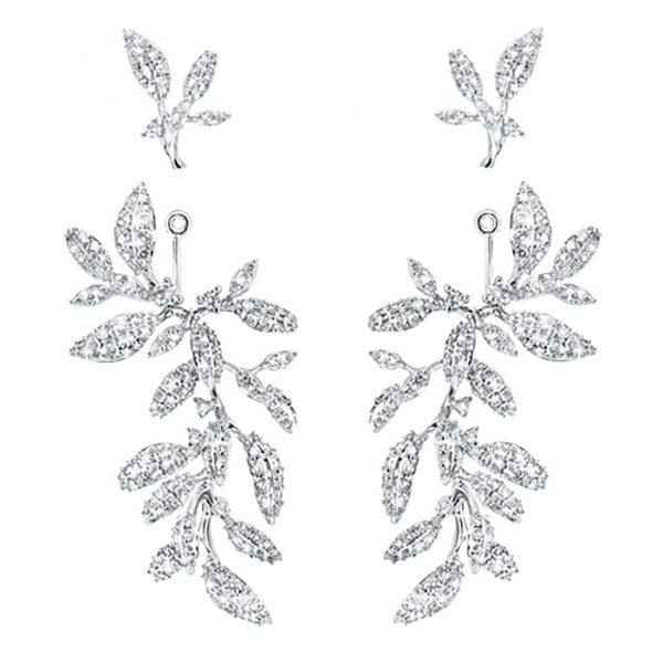 Mestergull Winter Frost collier i 18 K Hvitt gull med 36 diamanter totalt 0,21 ct. TwVs LYNGGAARD Winter Frost Ørepynt
