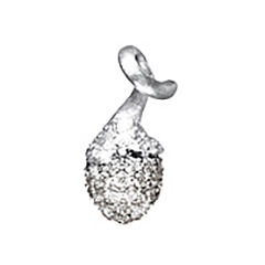 Mestergull My Little World charm pavéknopp i 18 K Hvitt gull med 67 diamanter totalt 0,39 ct. TwVs LYNGGAARD My Little World Charm