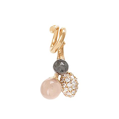 Mestergull Anheng Blooming klase i 18 K Gult gull med blush månesten, grå månesten og 41 diamanter totalt 0,109 ct. TwVs LYNGGAARD Blooming Anheng