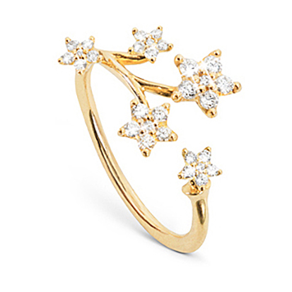 Mestergull Shooting stars ring med 30 diamanter totalt 0,27 ct. TwVs LYNGGAARD Shooting Stars Ring