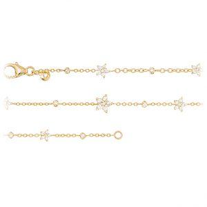 Mestergull Shooting Stars armbånd i 18 kt. gult gull med 35 diamanter totalt 0,35 ct. TwVs 16-19 cm LYNGGAARD Shooting Stars Armbånd