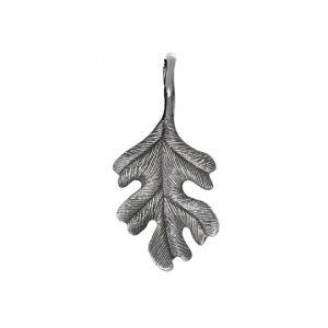 Mestergull Forest anheng i oksidert sølv eikeblad 3 cm LYNGGAARD Forest Anheng