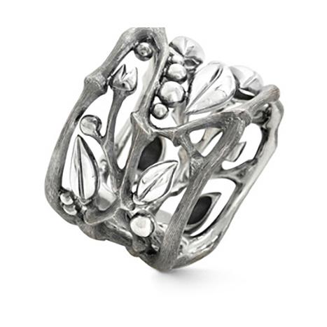 Mestergull Forest ring i oksidert sølv LYNGGAARD Forest Ring