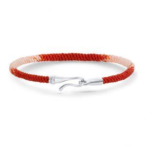 Mestergull Life armbånd med 18kt. hvitt gull lås i fargen Red Emotions LYNGGAARD Life Armbånd
