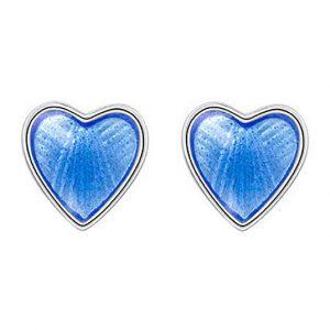 Mestergull Ørepynt til barn i sølv og ly blå emalje PIA & PER Ørepynt