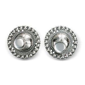 Mestergull Borer i hvitt sølv med skåler. NORSK BUNADSØLV Belte