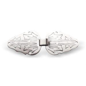 Mestergull Små vesthekter utført i oksidert sølv og med håndgraverite detaljer NORSK BUNADSØLV Diverse