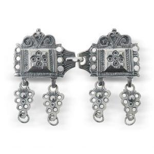 Mestergull Oksidert beltespenne i sølv NORSK BUNADSØLV Belte