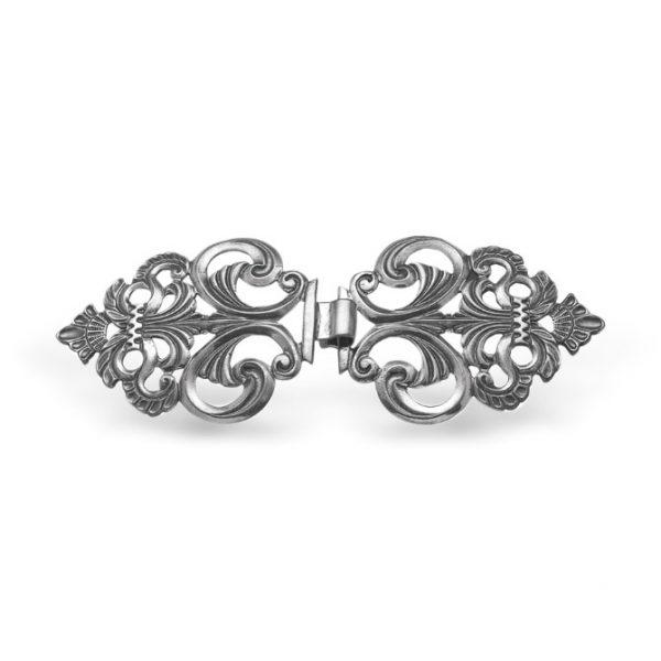 Mestergull Vestspenne i oksidert sølv NORSK BUNADSØLV Spenne