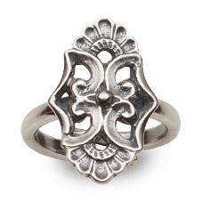 Mestergull Ring i oksidert sølv til Rennebu NORSK BUNADSØLV Ring