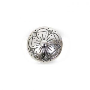Mestergull Oksidert sølvknapp med bunn. NORSK BUNADSØLV Knapp