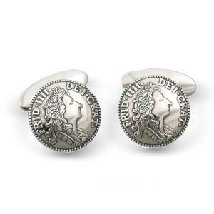 Mestergull Mansjettknapper i oksidert sølv NORSK BUNADSØLV Mansjettknapp