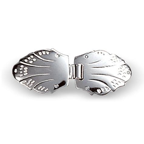 Mestergull Hekter i hvitt sølv til Meldal NORSK BUNADSØLV Spenne