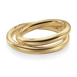 Mestergull Lykkeringer levert i gult gull og profil 1 som er en tung kraftig modell. Bredden er 3,0 mm og ringen fremstår da nesten helt rundt i sin profil. Prisen nedenfor er pr. ring. LYKKERINGENE Eksempel Ring