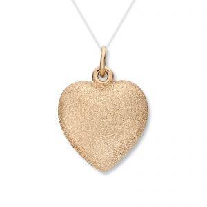 Mestergull Stort gult gull hjerte anheng. Diameter 1,9 cm. VAN BERGEN Golden Heart Anheng