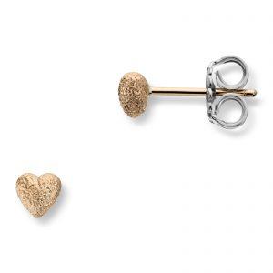 Mestergull Små hjerte ørepynt i gult gull. Diameter 0,5 cm VAN BERGEN Golden Heart Ørepynt