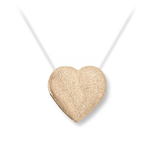 Mestergull Lite gult gull hjerte. Diameter 1,2 cm. VAN BERGEN Golden Heart Lås