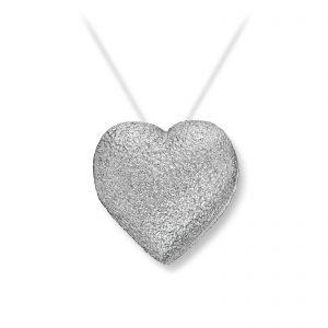 Mestergull Lite hvitt gull hjerte. Diameter 1,2 cm. VAN BERGEN Golden Heart Lås