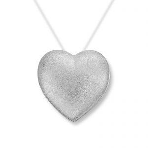 Mestergull Mellomstort sølv hjerte lås. Diameter 1,9 cm. VAN BERGEN Silver Heart Lås