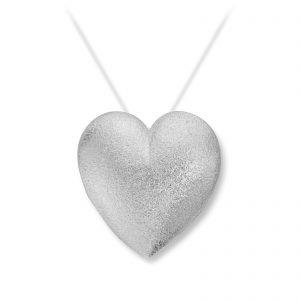 Mestergull Stor sølv hjerte lås. VAN BERGEN Silver Heart Lås
