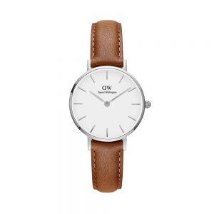 Mestergull En tidløs og elegant Classic Petite Durham hvit, sølv, dameklokke, Durham-rem DANIEL WELLINGTON Ur
