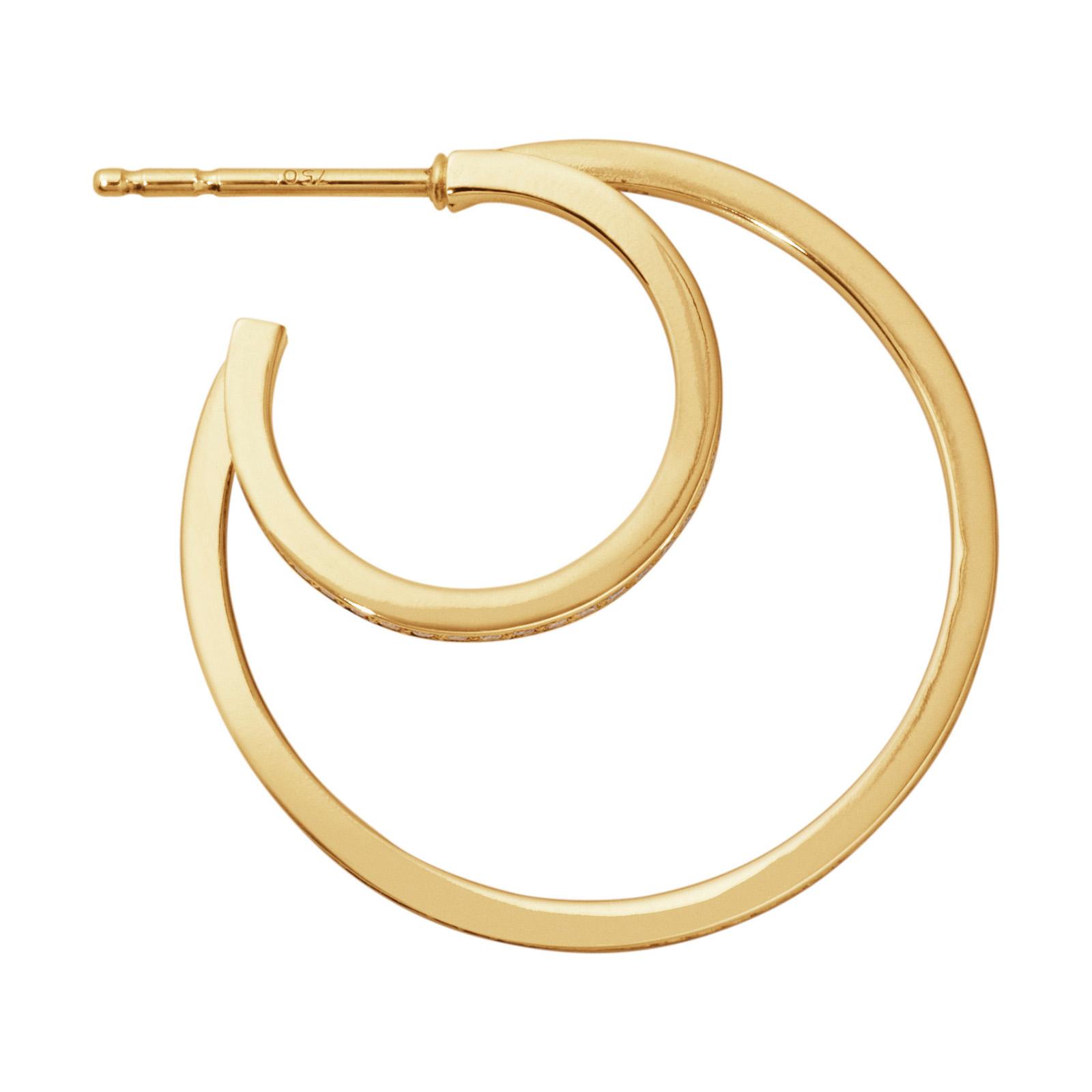 Mestergull HALO ørepynt i 18 kt. gult gull med brilliantslipte diamanter GEORG JENSEN Halo Ørepynt