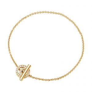 Mestergull HALO armbånd i 18 kt. gult gull med brilliantslipte diamanter GEORG JENSEN Halo Armbånd