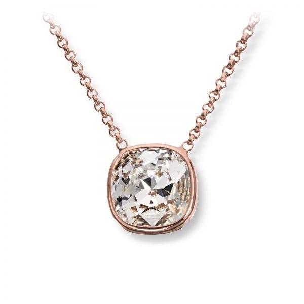 Mestergull Lekkert anheng i roseforgylt sølv med hvit swarovski krystall GID Anheng