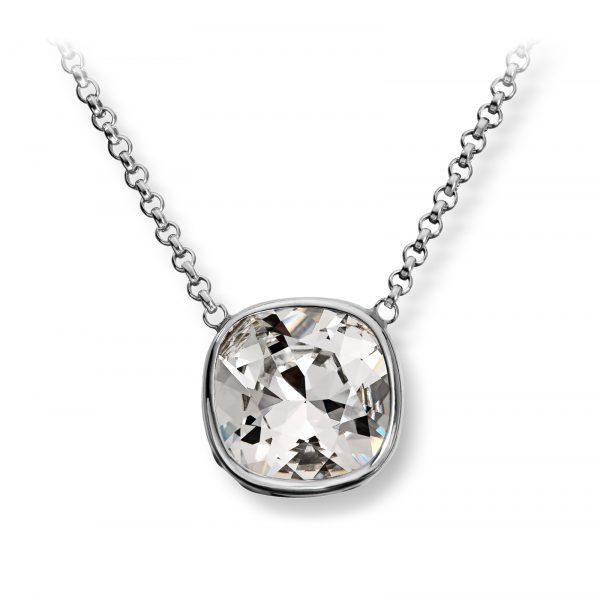 Mestergull Lekkert anheng i rhodinert sølv med hvit swarovski krystall GID Anheng