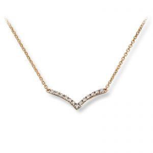 Mestergull Nydelig kjede i gult gull med diamanter MG DIAMONDS Kjede