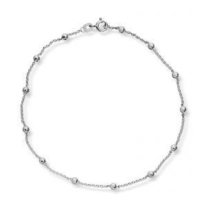 Mestergull Søt ankellenke i sølv med kuler MESTERGULL Ankellenke