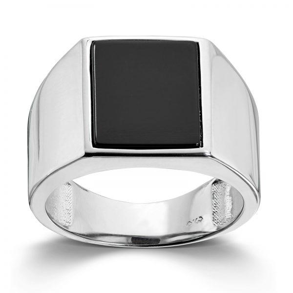 Mestergull Tøff ring til herre i sølv med onyx MESTERGULL Ring