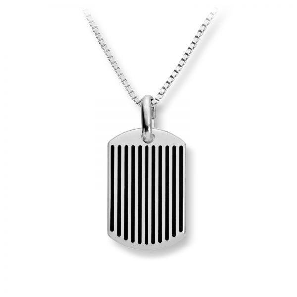 Mestergull Tøft anheng til herre i sølv med sorte detaljer MESTERGULL Anheng