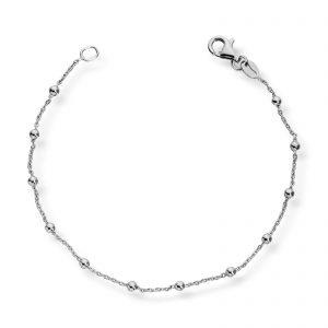Mestergull Delikat armbånd i rhodinert sølv MESTERGULL Armbånd